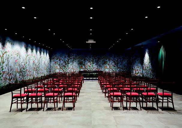 Uau! Olha que mara o auditório do Gucci ArtLab (Foto: divulgação)