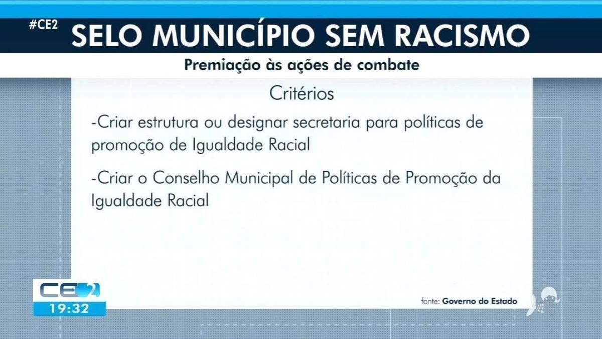 Selo Município sem Racismo é sancionado no Ceará como política pública na promoção da igualdade racial
