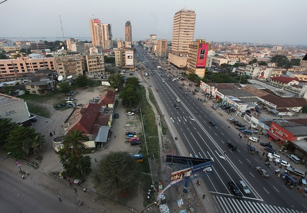 Kinshasa, capital da República Democrática do Congo (Foto: Wikipedia)