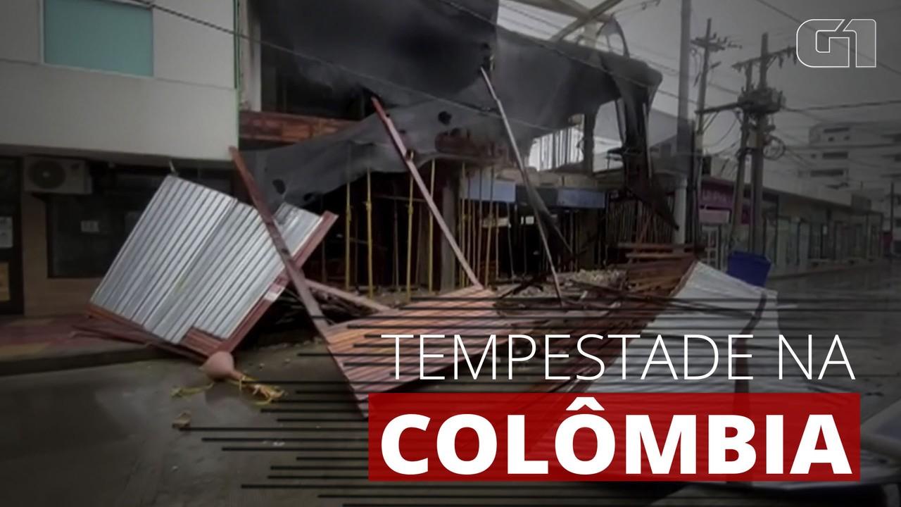 Tempestade causa estragos na Colômbia e mata uma pessoa