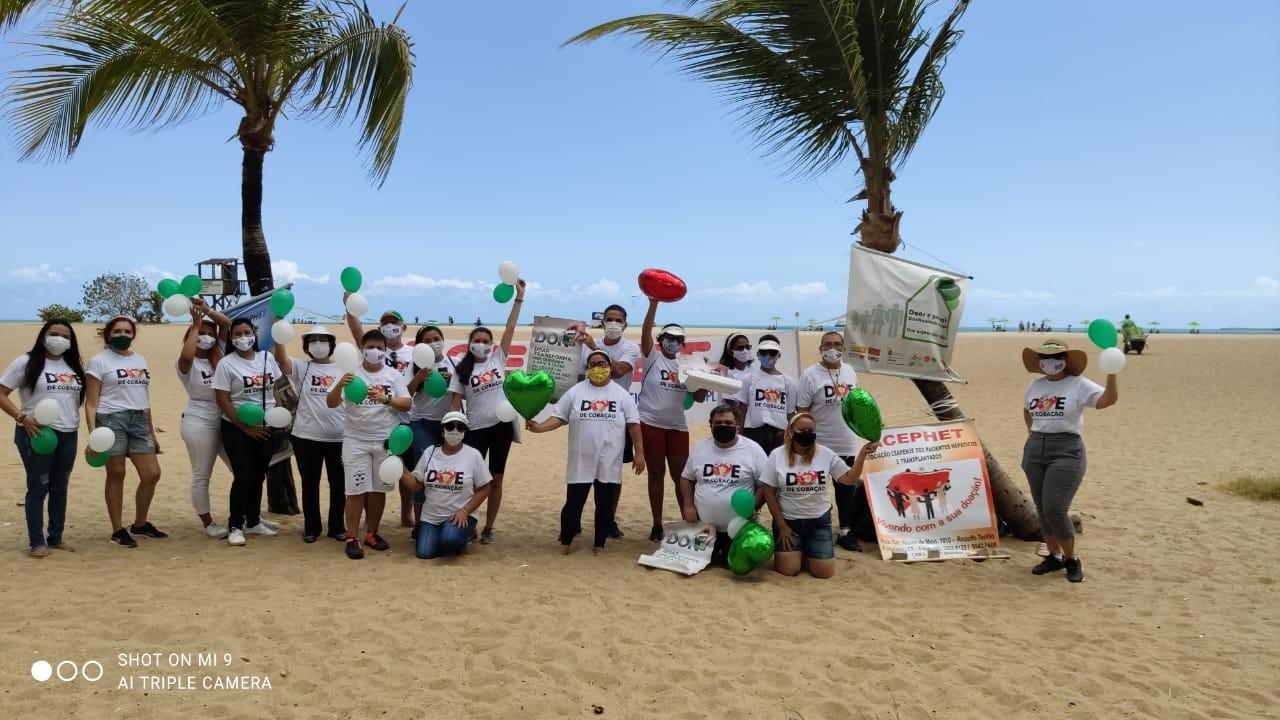 No Dia da Doação de Órgãos, associação reúne transplantados e familiares no Aterro da Praia de Iracema