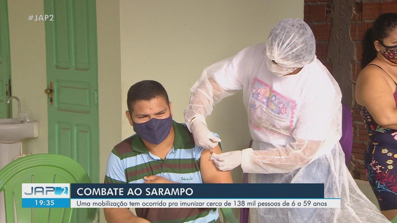 Começa vacinação de casa em casa para barrar surto de sarampo em 7 municípios do Amapá