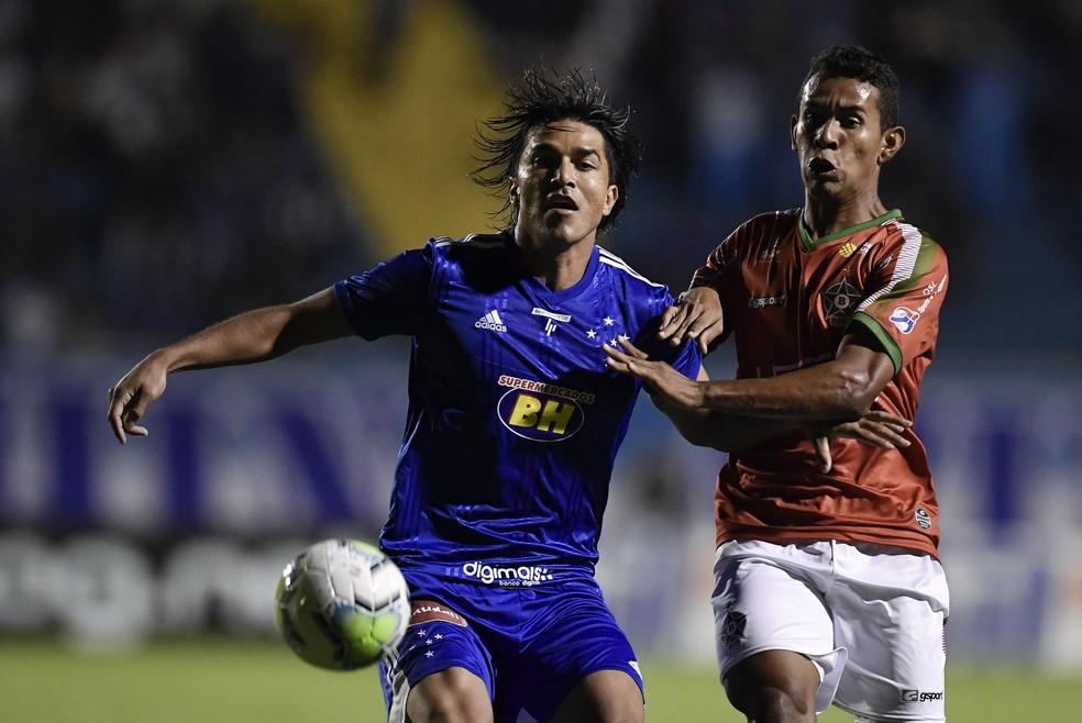 Marcelo Moreno atuando contra o Boa Esporte — Foto: Douglas Magno/Light Press/Cruzeiro