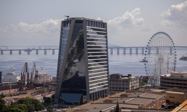 Prédio Aqwa Corporate, na região do Porto Maravilha