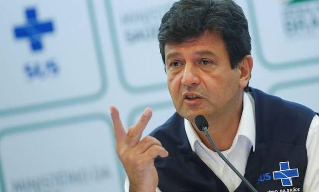 O ex-ministro da Saúde, Luiz Henrique Mandetta