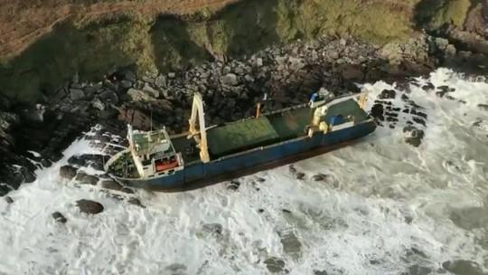 Foto: (Guarda Costeira da Irlanda/PA/BBC)