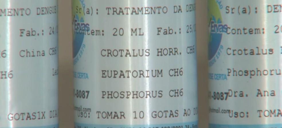 Um dos princípios da homeopatia  é que a diluição do causador da doença pode curá-la (Foto: Reprodução/EPTV)
