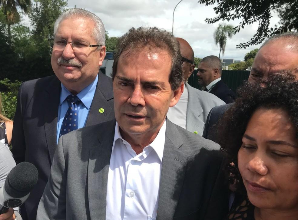 O deputado Paulo Pereira da Silva (SD-SP) participou de reunião com o presidente da Câmara, Rodrigo Maia (DEM-RJ) (Foto: Bernardo Caram/G1)