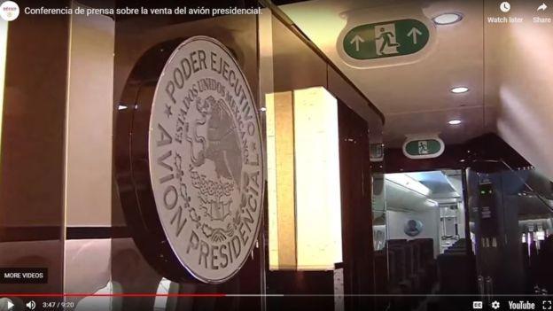 Avião presidencial realizou 214 viagens em um período de dois anos e 10 meses (Foto: Reprodução Youtube/Secretaria da Fazenda e Crédito Público do México via BBC)