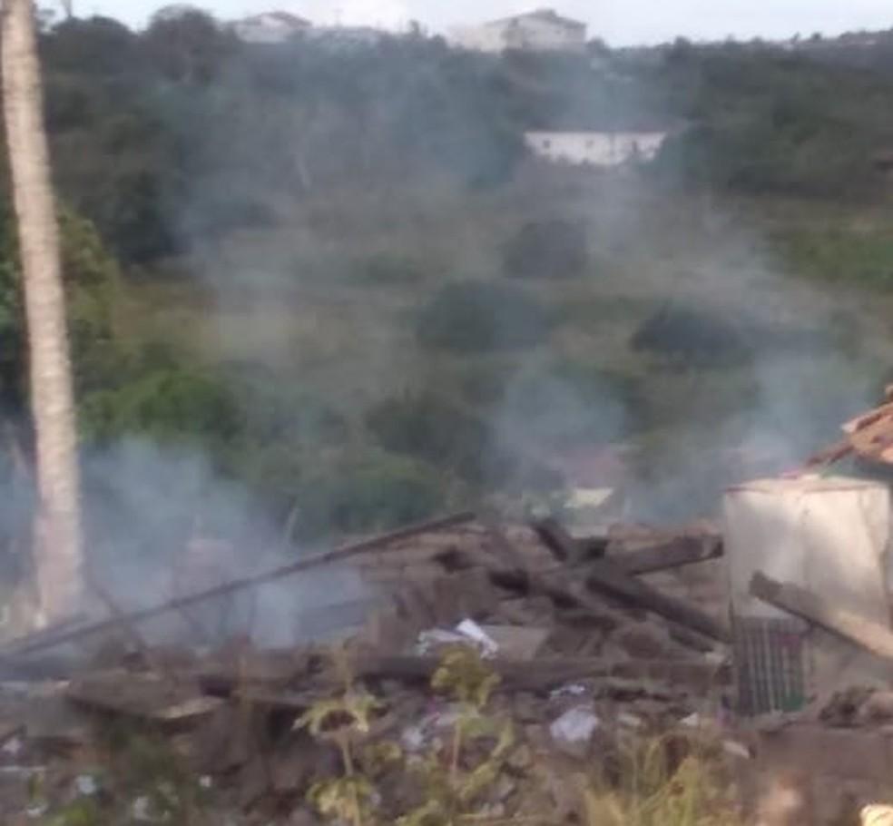 Fábrica de fogos de artifício explode em Solânea, PB — Foto: Diego Estéfani Carneiro/ Arquivo pessoal