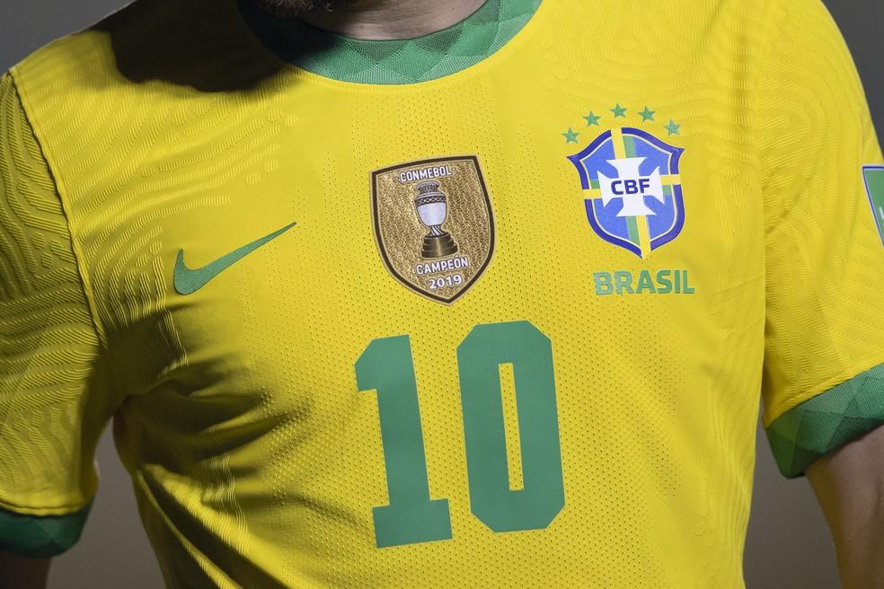 Camisa 10 da Seleção voltará a ser de Neymar nos próximos jogos das Eliminatórias — Foto: Lucas Figueiredo / CBF