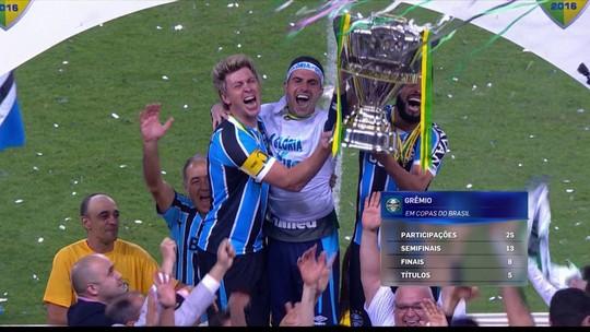 Grêmio e Cruzeiro são os times mais copeiros do Brasil? Redação analisa