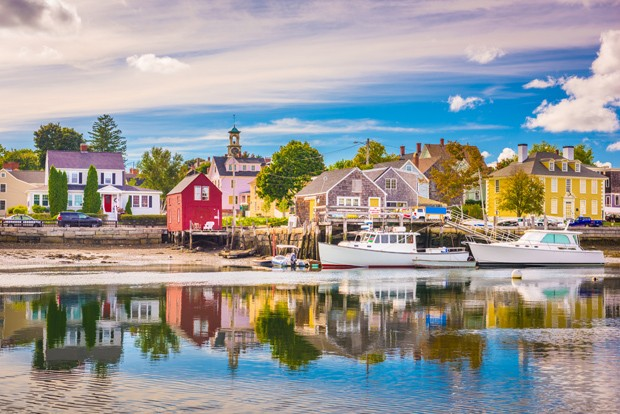 Portsmouth, New Hampshire, USA town skyline on the Piscataqua River. (Foto: Getty Images/iStockphoto)