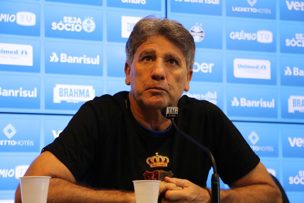 Renato Gaúcho, técnico do Grêmio  — Foto: Lucas Bubols