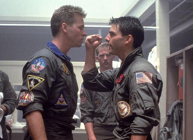 Val Kilmer e Tom Cruise em Top Gun (Foto: Divugação)
