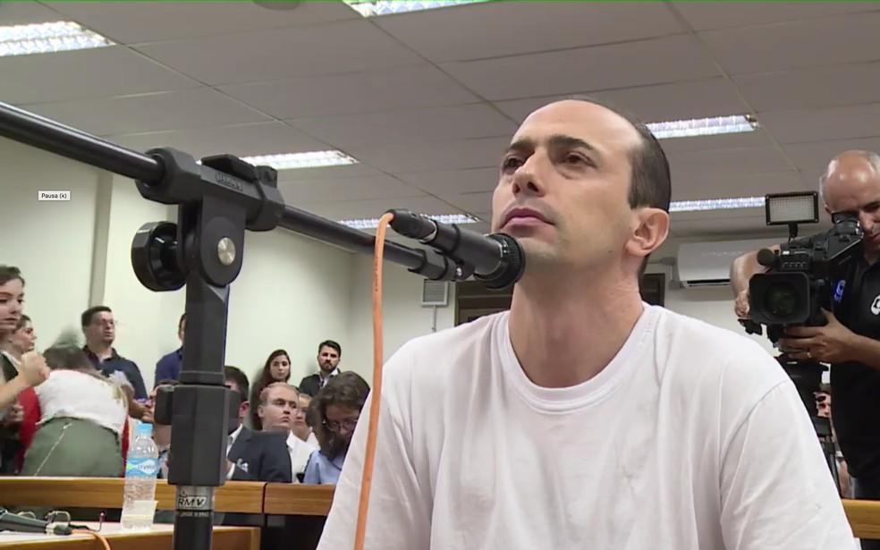 Leandro Boldrini é o primeiro réu a ser interrogado — Foto: TJ RS/Divulgação