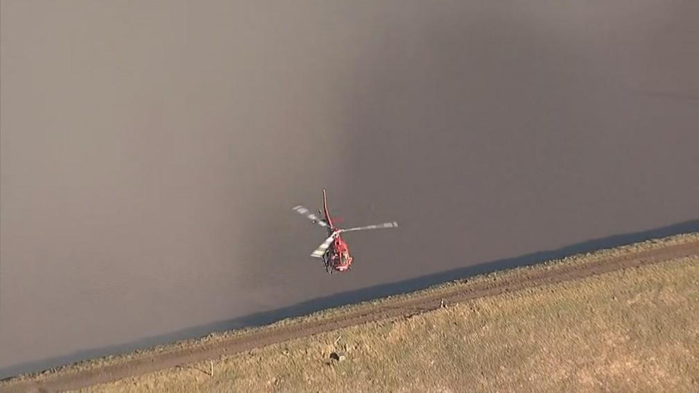 Equipes de resgate seguem buscas por vítimas e sobreviventes após rompimento de uma barragem da mineradora Vale — Foto: Reprodução/TV Globo