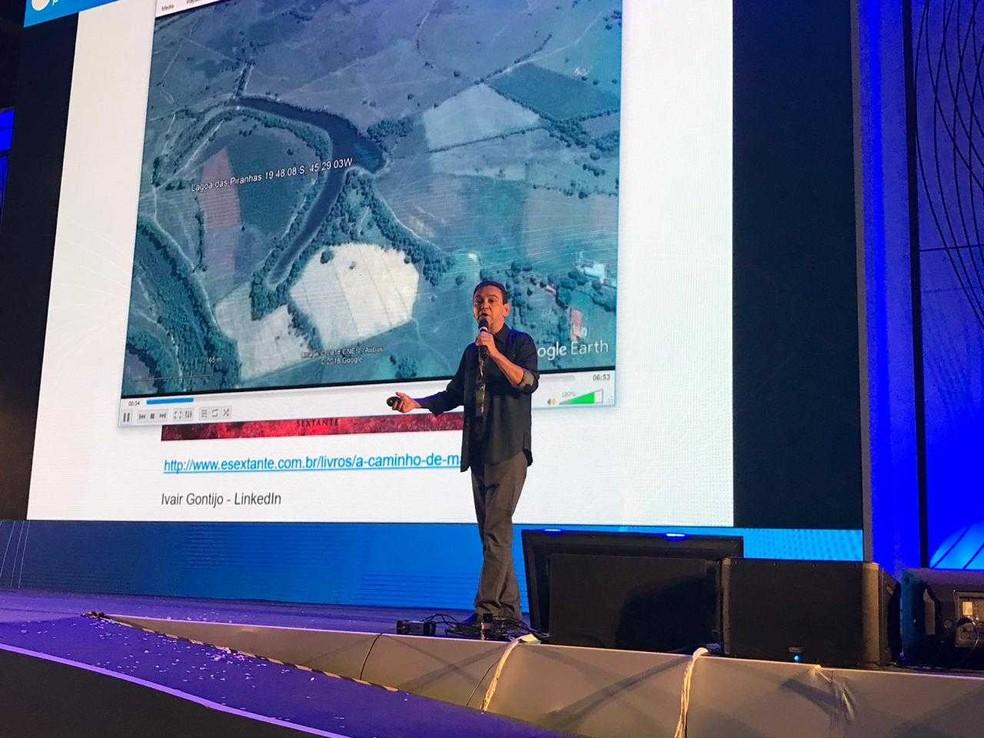 Ivan Gontijo, brasileiro que trabalha nas missões espaciais a Marte, na Campus Party 2019. — Foto: Carolina Dantas/G1