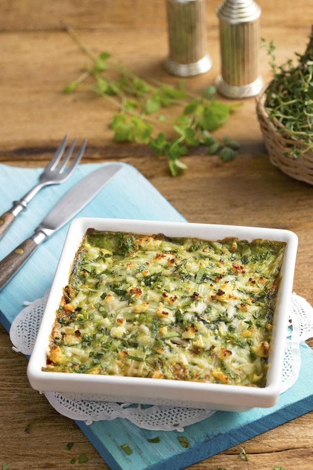 Lasanha vegetariana com molho de espinafre: receita prática e low carb (Foto: Divulgação)