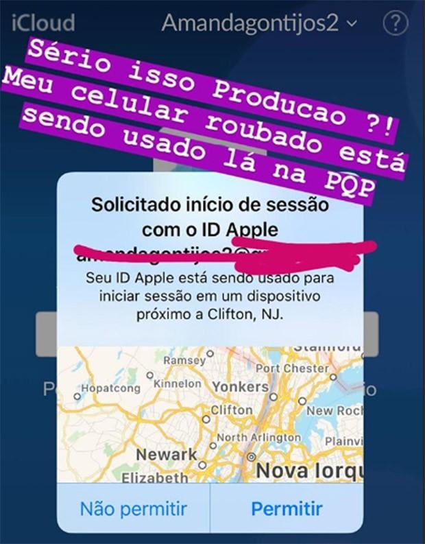 Celular de Amanda Gontijo foi rastreado nos Estados Unidos (Foto: Reprodução/Instagram)