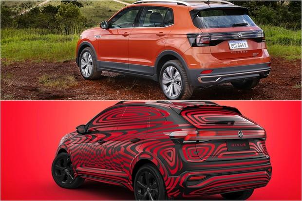 Volkswagen Nivus T-Cross Comparativo (Foto: Montagem/Divulgação)