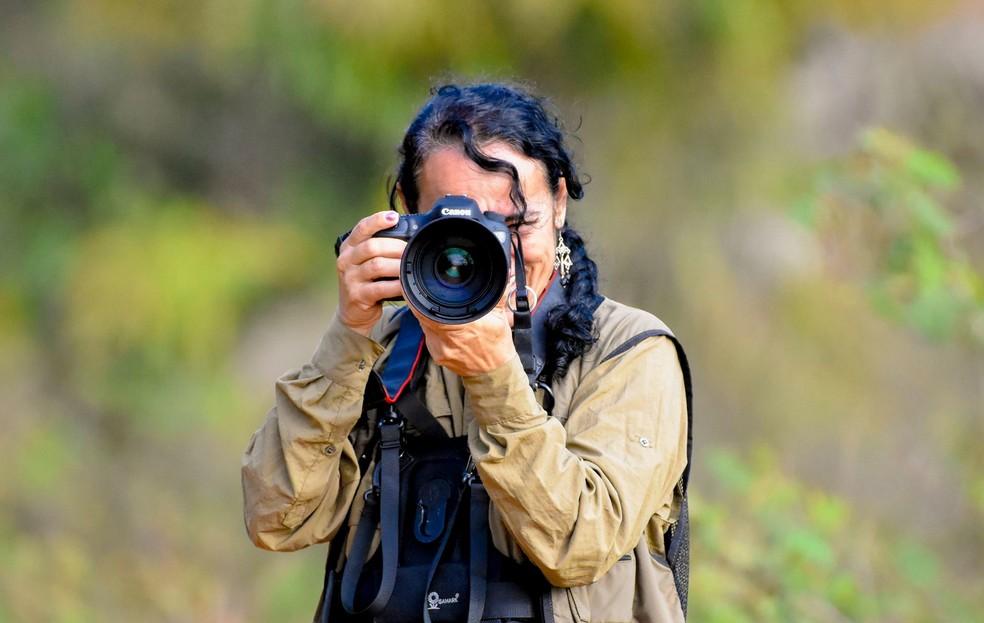 Jeanne usa a fotografia para incentivar mulheres a clicar a natureza (Foto: Jeanne Martins/VC no TG)