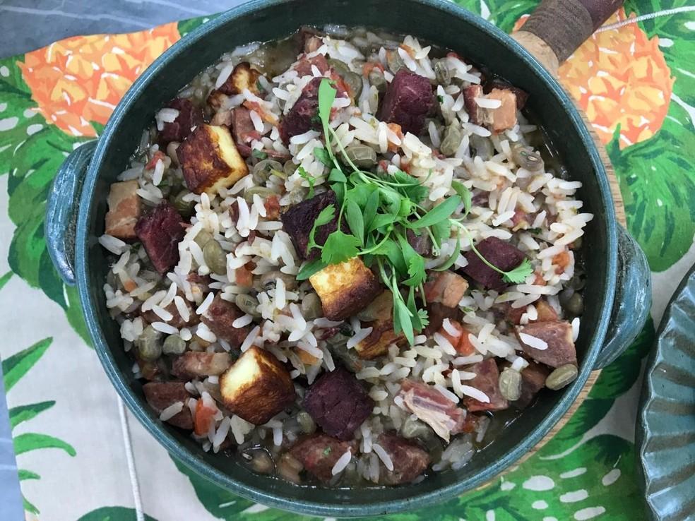 Baião de Dois é um prato típico da região Nordeste do Brasil — Foto: Dani Meira/TV Globo