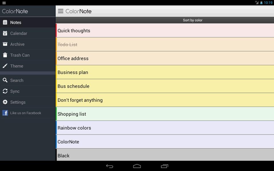 ColorNote | Download | TechTudo