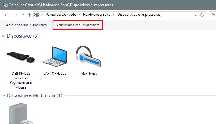 Adicione uma nova impressora WiFi (Foto: Reprodução/Paulo Alves)