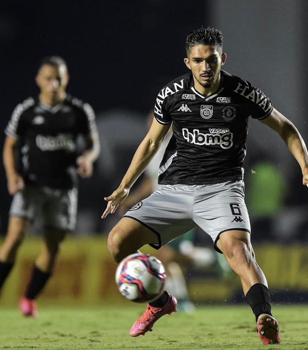Andrey em ação pelo Vasco contra o Goiás — Foto: Reprodução / Instagram