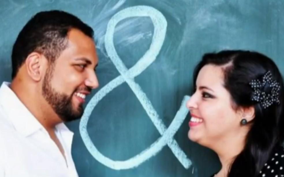 Camila Graciano e marido, em Anápolis, Goiás  Foto: Reprodução/TV Anhanguera