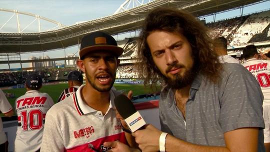 Cartolouco acompanha partida entre São Paulo e Botafogo pelo Brasileirão