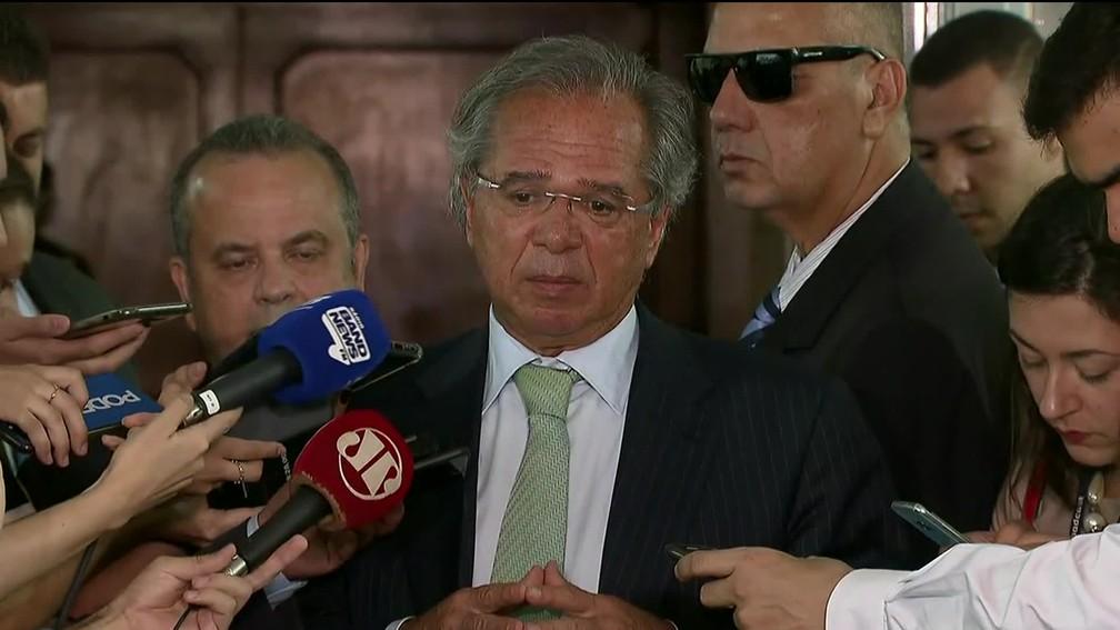 Paulo Guedes quer conseguir uma economia de R$ 1 trilhão em dez anos com Previdência — Foto: Reprodução