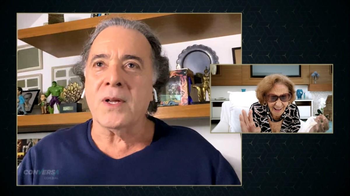 Laura Cardoso se emociona com homenagem de Tony Ramos, Fernanda Montenegro  e Lima Duarte no 'Conversa com Bial' | Conversa com Bial