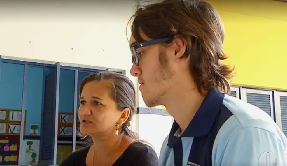Thawan Xavier de 17 anos é estudante do primeiro ano do ensino médio em Lagoa Salgada (Foto: Inter TV Cabugi/Reprodução)