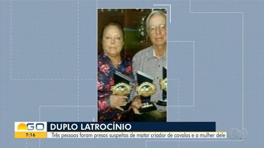 Trio é preso suspeito de matar criador de cavalos e esposa em fazenda de Campo Limpo de Goiás