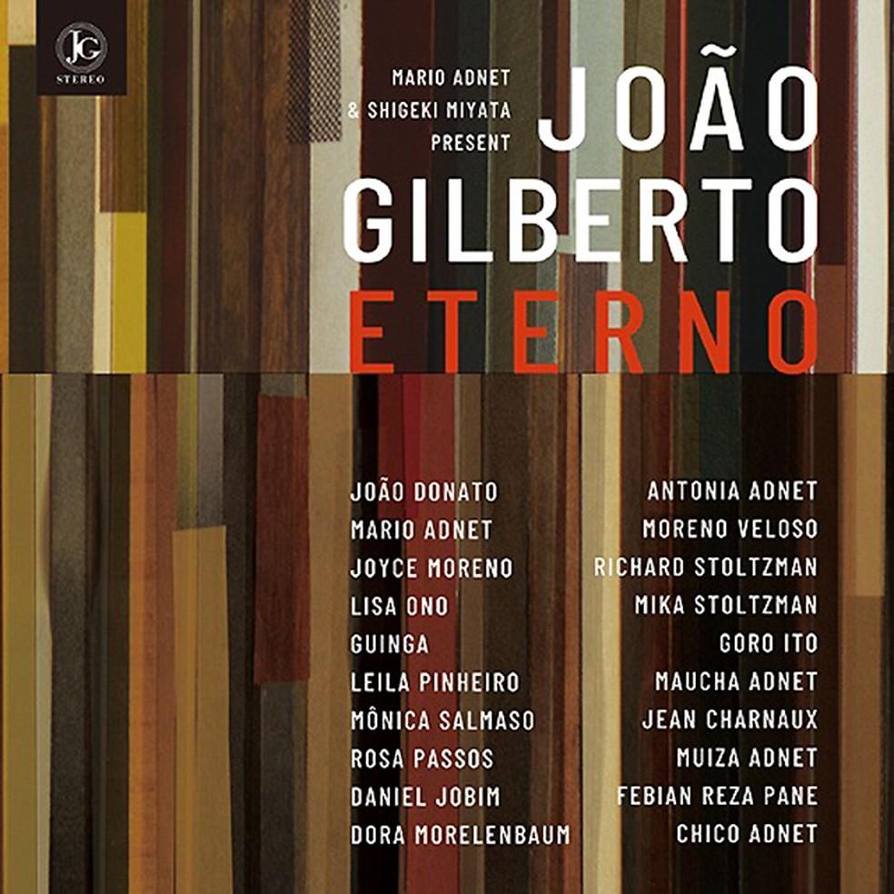 Capa do álbum 'João Gilberto eterno' — Foto: Divulgação