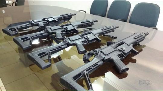 Fuzis comprados por moradores de Ivaiporã são entregues à Polícia Militar