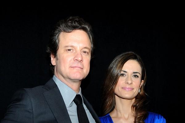 O ator Colin Firth e a produtora de cinema Livia Giuggioli (Foto: Getty Images)