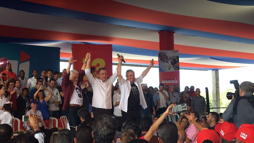 PT confirmou, em convenção estadual em Salvador, Rui Costa como candidato à reeleição ao governo (Foto: Alan Tiago Alves/G1)