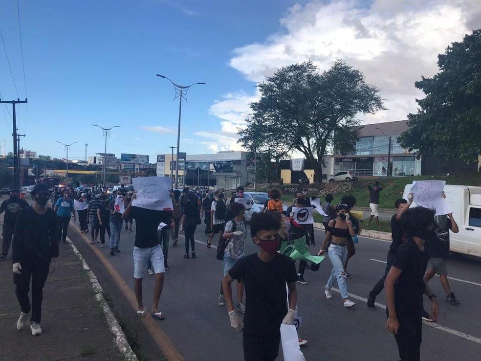 Grupo faz ato a favor da democracia em São Luís (MA) — Foto: Divulgação/Levante Popular Antifascista