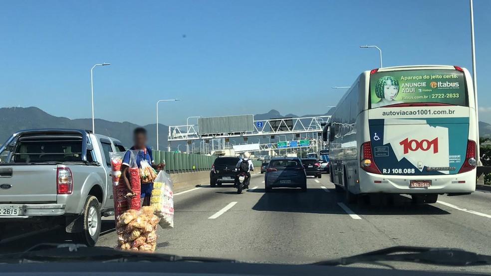 Ônibus podem ser proibidos de circular na Ponte com o isolamento do Rio — Foto: Fernanda Rouvenat / G1