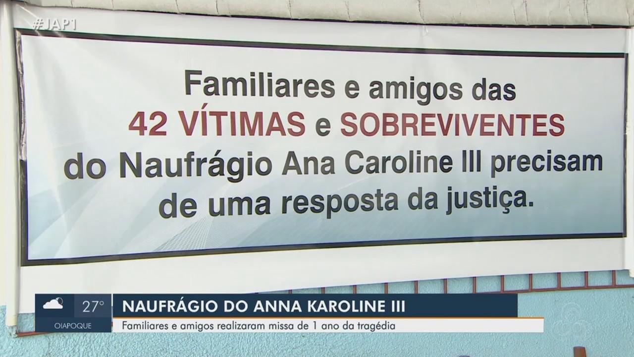 Em meio a dor e comoção, missa lembra primeiro ano do naufrágio do navio Anna Karoline 3