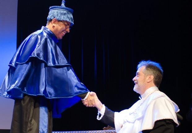 Reitor Antonio Claudio da Nóbrega (dir.) e vice-reitor Fábio Passos (esq.) (Foto: Divulgação/UFF)