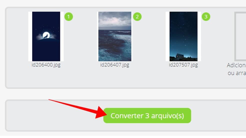 Transforme os arquivos de imagem em PDF — Foto: Reprodução/Paulo Alves