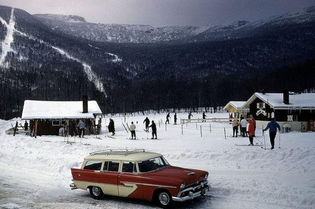 Stowe, em Vermont, é uma famosa estação de esqui há anos (Foto: Getty Images via BBC News Brasil)