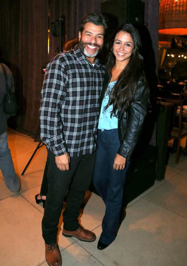 Maurício Mattar e a filha Rayra Mattar (Foto: Andre Freitas/AgNews.)