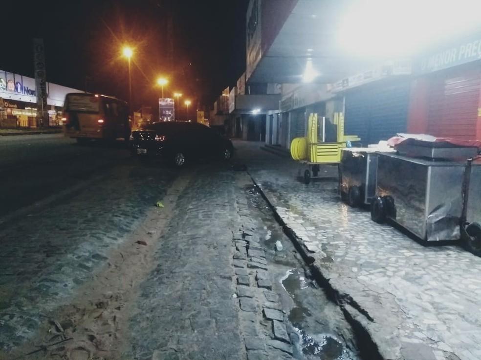 Crime aconteceu na Rua Presidente José Médici com a Avenida Tomaz Landim, na Zona Norte de Natal (Foto: Acson Freitas/Inter TV Cabugi)
