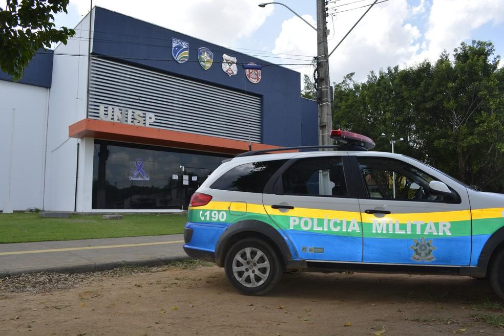 O condutor da picape foi encaminhado até a Unisp de Ariquemes — Foto: Jeferson Carlos/G1
