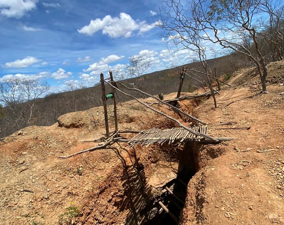 Garimpo ilegal era feito no Sertão de Pernambuco, segundo PF — Foto: Polícia Federal/Divulgação